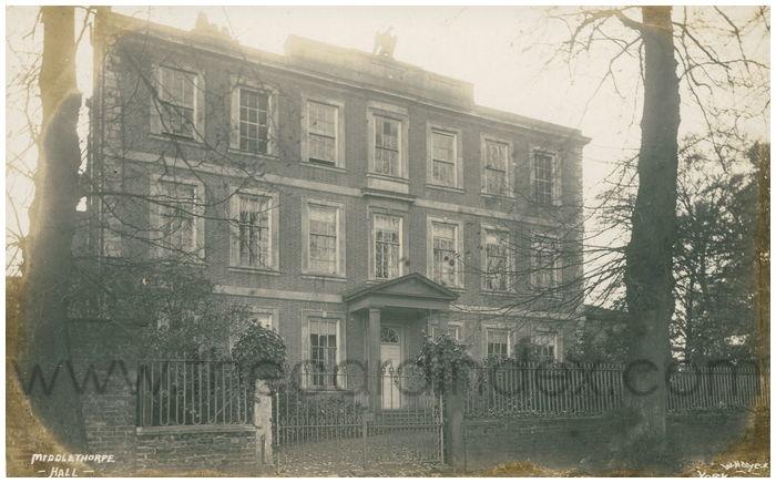 Postcard front: Middlethorpe Hall