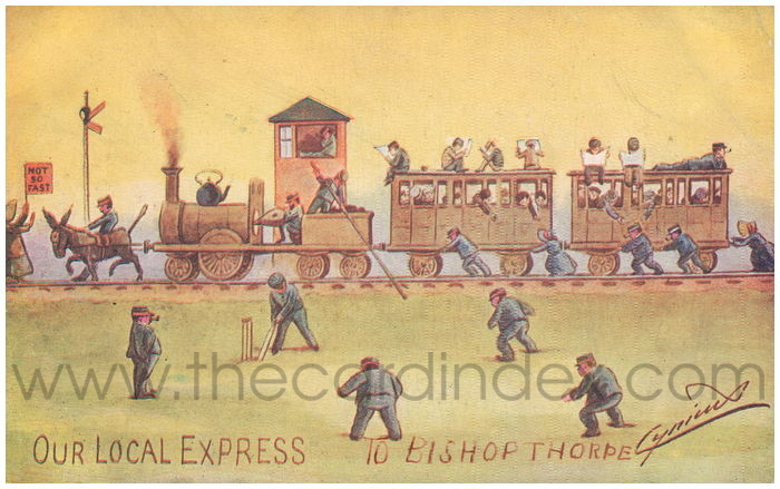 Postcard front: Our Local Express to Bishopthorpe