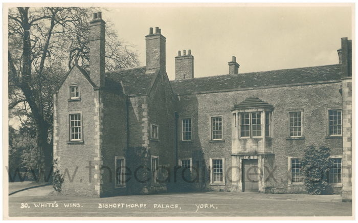 Postcard front: White's Wing Bishopthorpe Palace. York