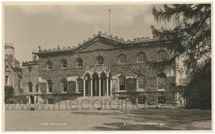 Postcard front: The Palace Bishopthorpe