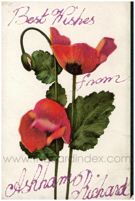 Postcard front: Best Wishes from Askham Richard