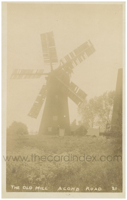 Postcard front: The Old Mill Acomb Road