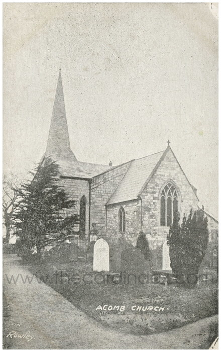 Postcard front: Acomb Church