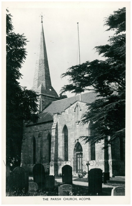 Postcard front: The Parish Church, Acomb
