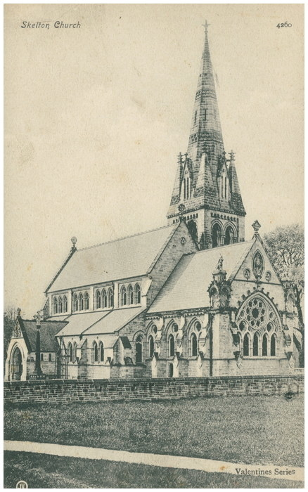 Postcard front: Skelton Church