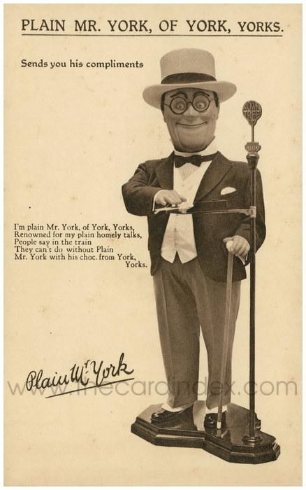 Postcard front: Plain Mr. York, of York, Yorks.