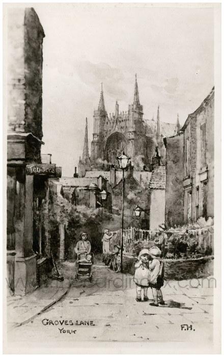 Postcard front: Groves Lane York