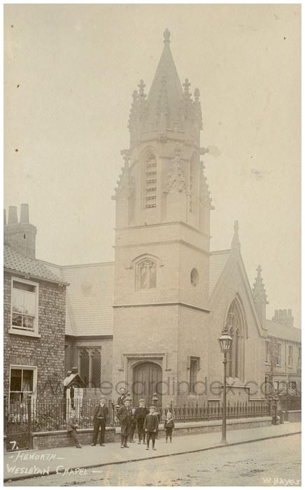 Postcard front: Heworth - Wesleyan Chapel