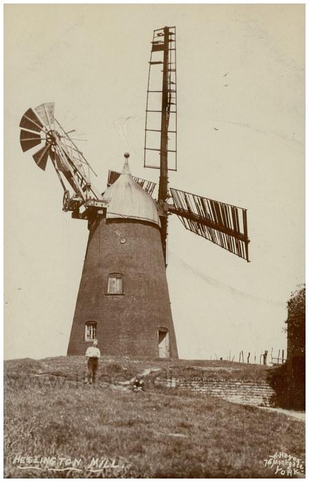 Postcard front: Heslington Mill