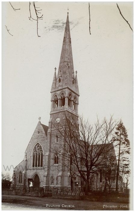 Postcard front: Fulford Church