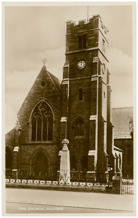 Postcard front: The Church, Fulford