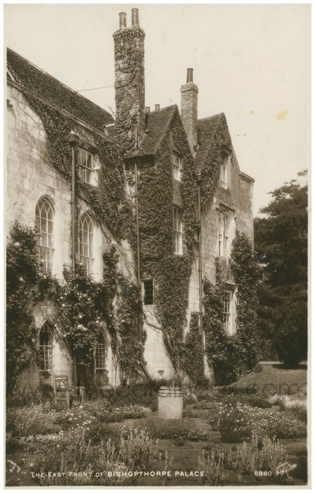 Postcard front: The East Front of Bishopthorpe Palace
