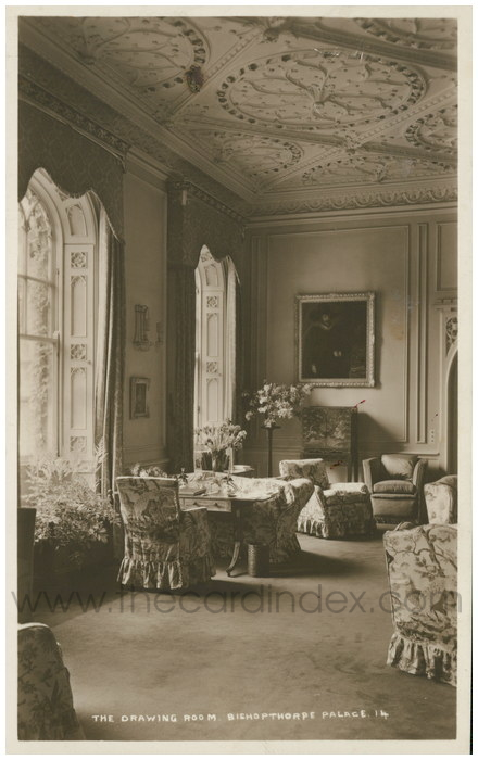 Postcard front: The Drawing Room Bishopthorpe Palace