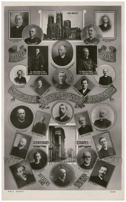 Postcard front: York 1908 Wesleyan Conference Souvenir