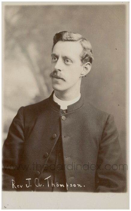 Postcard front: Rev J.A. Thompson