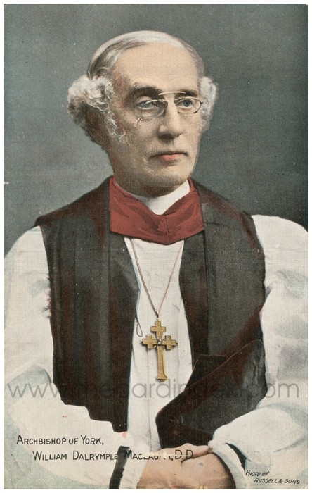 Postcard front: Archbishop of York, William Dalrymple Maclagan, D.D.