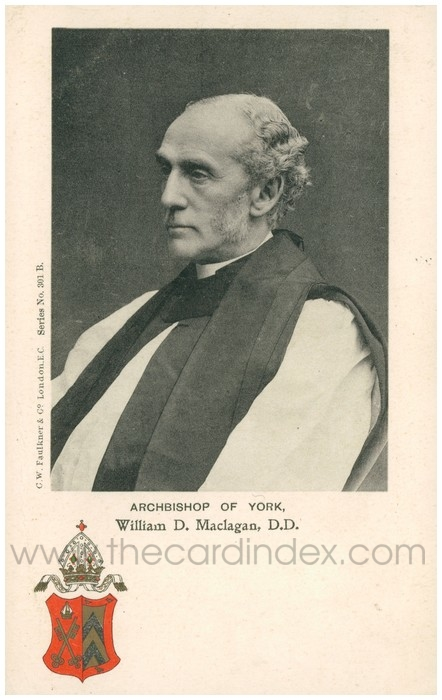 Postcard front: Archbishop of York, William D. Maclagan, D.D.
