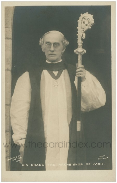 Postcard front: His Grace the Archbishop of York