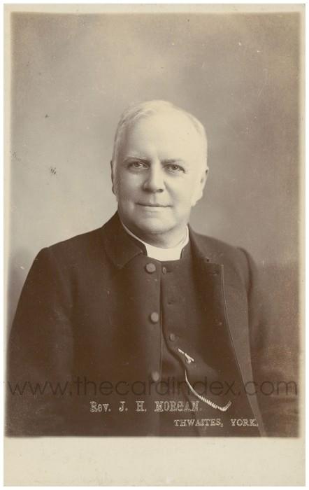 Postcard front: Rev. J.H. Morgan