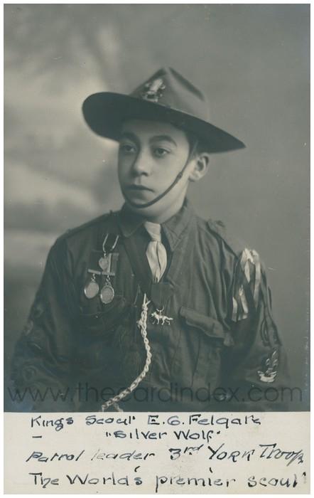 Postcard front: Kings Scout G.G. Felgate