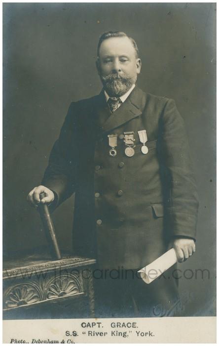Postcard front: Capt. Grace. S.S.