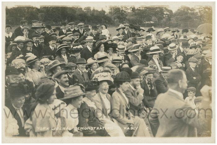 Postcard front: York Liberal Deomonstration