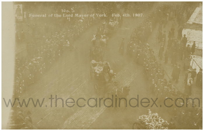 Postcard front: Funeral of the Lord Mayor of York. Feb 4th 1907