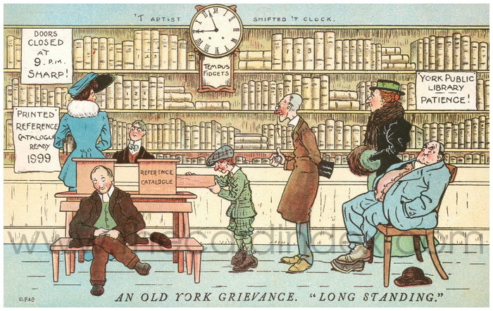 Postcard front: An Old York Grievance.