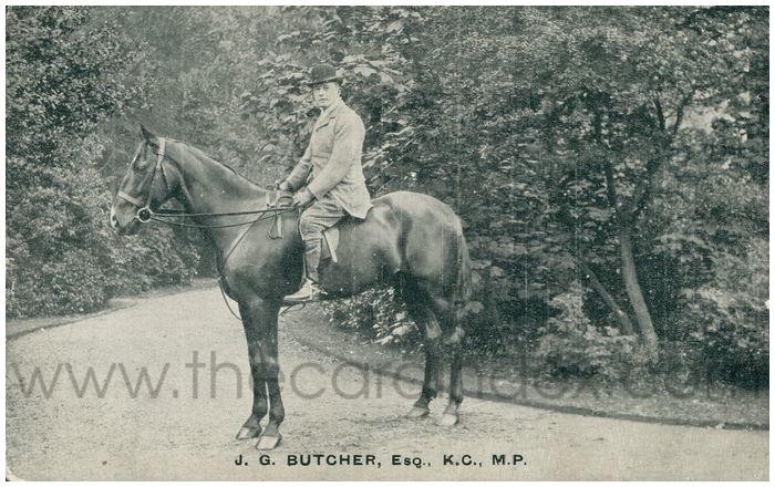 Postcard front: J.G.Butcher, Esq. K.C., M.P.
