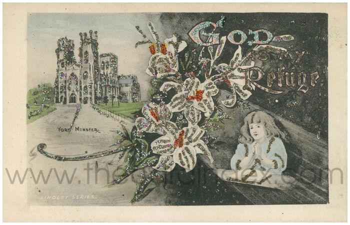 Postcard front: God is my Refuge