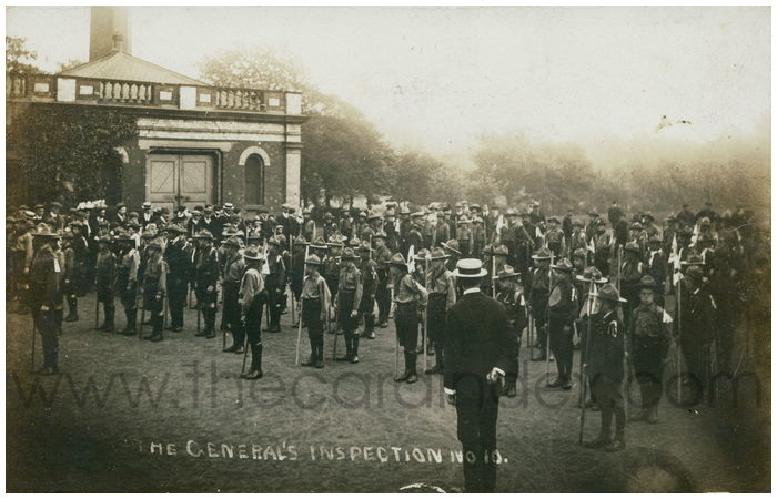 Postcard front: The General's Inspection