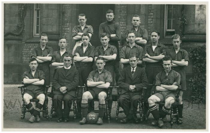 Postcard front: St. J.A.F.C. 33-34