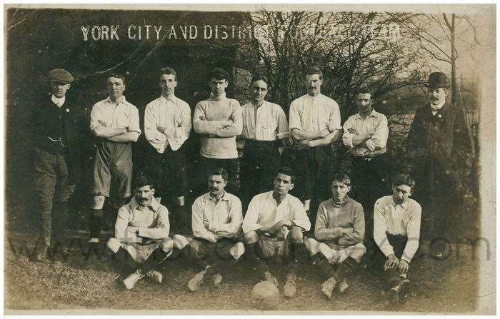 Postcard front: York City and District Football Team