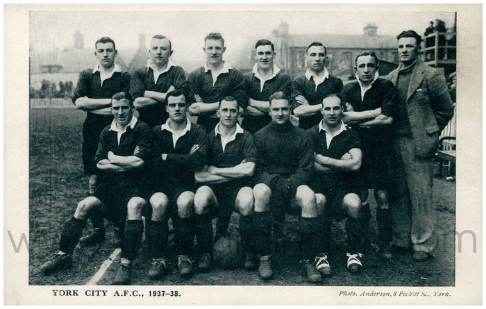 Postcard front: York City A.F.C., 1937-38.