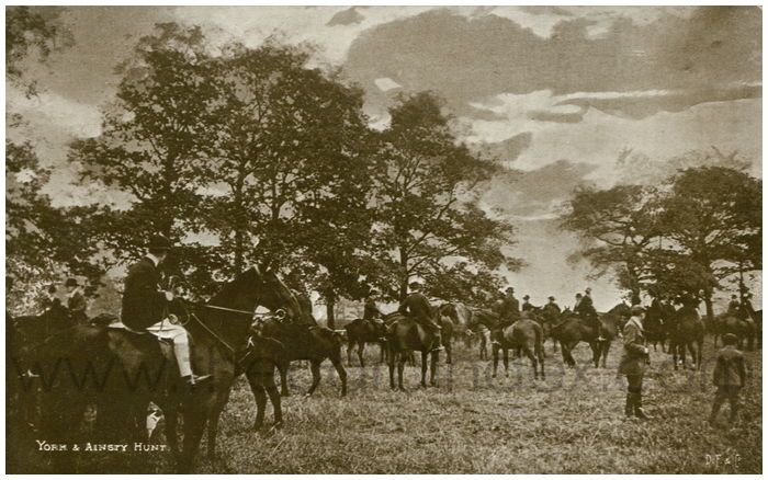 Postcard front: York & Ainsty Hunt