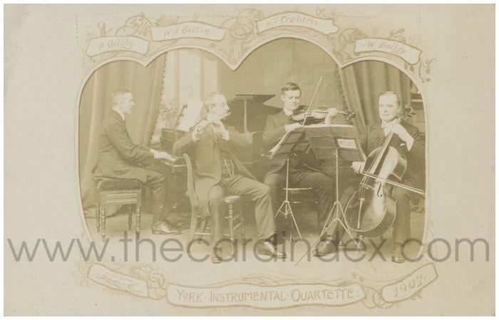 Postcard front: York Instrumental Quartette 1907