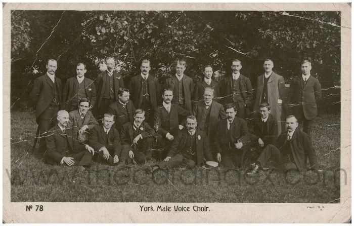 Postcard front: York Male Voice Choir