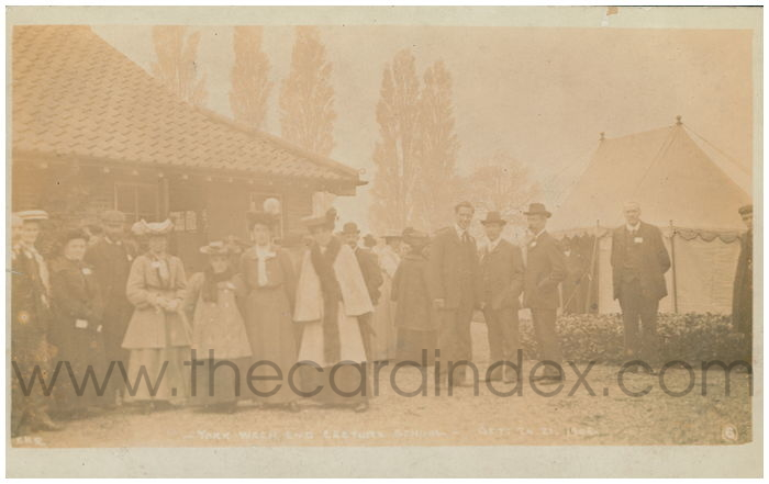 Postcard front: York Weekend Lecture School - Oct 20.21. 19066