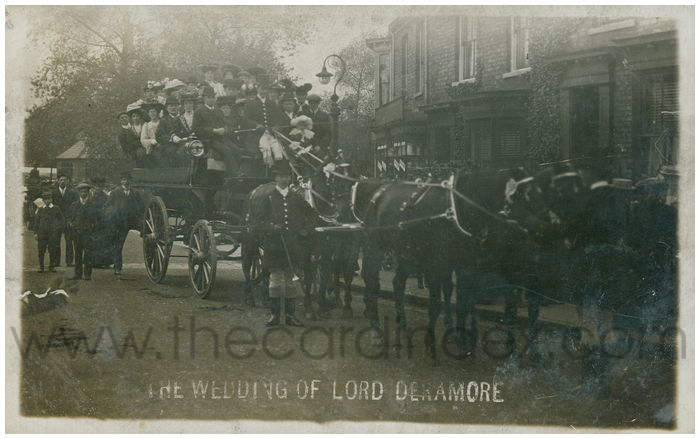 Postcard front: The Wedding of Lord Deramore