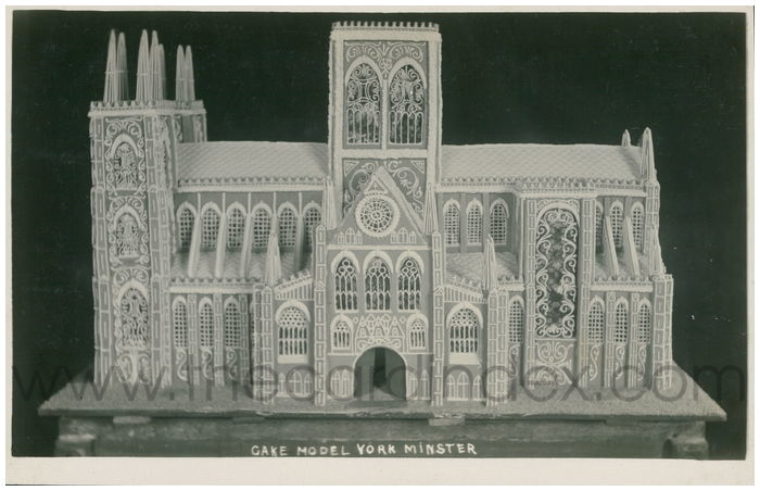 Postcard front: Cake Model York Minster