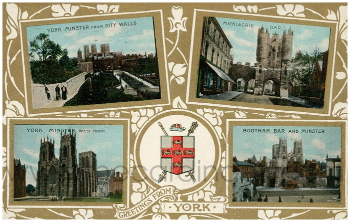 Postcard front: Greetings from York