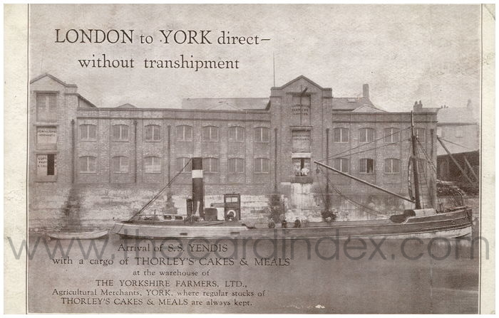 Postcard front: London to York direct - without transhipment