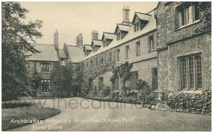 Postcard front: Archbishop Holgate's Grammar School, York Front Drive