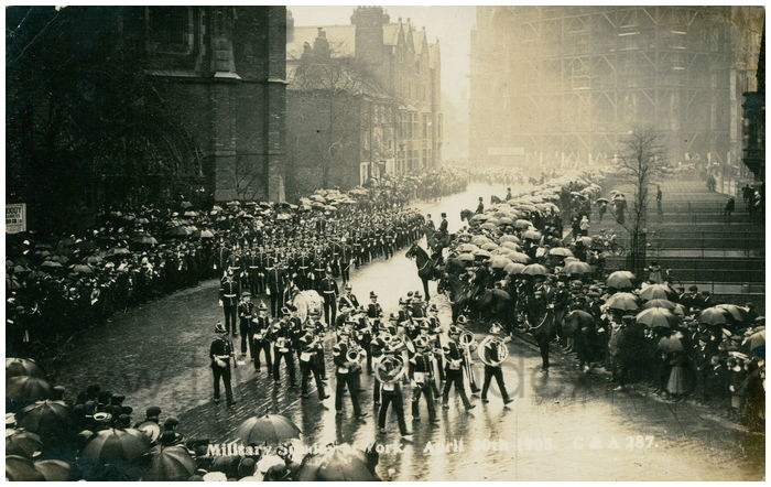 Postcard front: Military Sunday at York. April 30th 1905