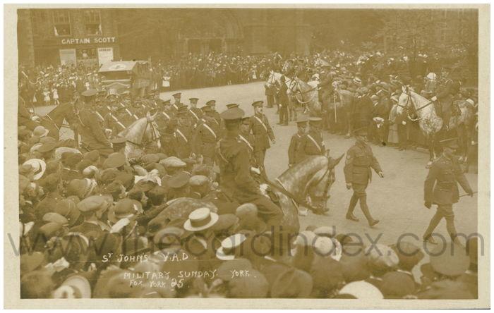 Postcard front: St. John's V.A.D. Military Sunday. York