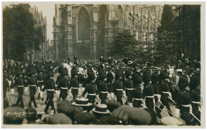 Postcard front: Military Sunday York