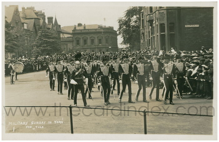 Postcard front: Military Sunday in York