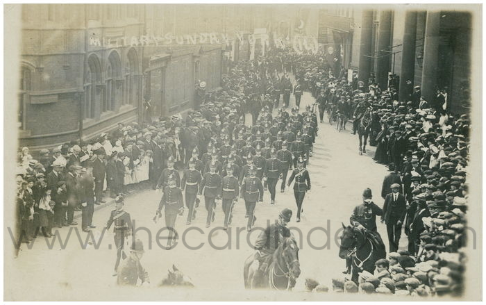 Postcard front: Military Sunday York