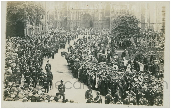 Postcard front: Military Sunday York (18)