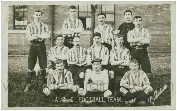 Postcard front: A.S.C. Football Team